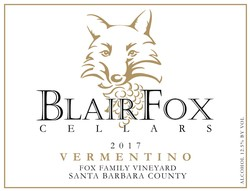 2017 Vermentino, Fox Family Vineyard